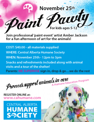 Paint Pawty (for kids)